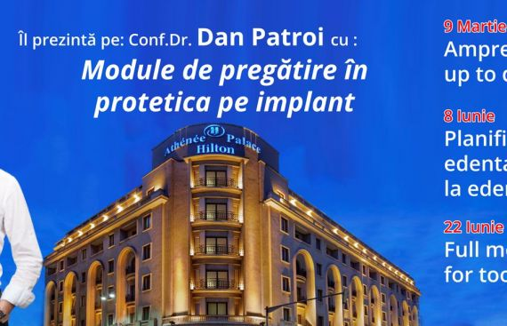 Module de pregatire in protetica pe implant